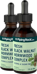 Black Walnut  Wormwood Complex Liquid Extract 2 Dropper Bottles x 2 fl oz (59 mL)