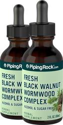Extrait liquide de complexe d'absinthe et de noyer noir 2 fl oz (59 mL) Compte-gouttes en verre
