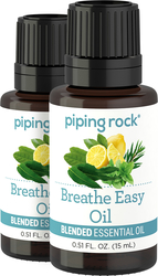 Huile essentielle favorisant la respiration 1/2 fl oz (15 mL) Compte-gouttes en verre