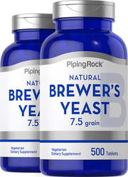 Brewer's Yeast 500 mg  2 Bottles x 500 Tablets