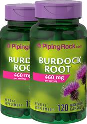Burdock Root 460 mg 120 Capsules 2 Bottles