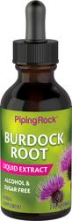 Extrait liquide de racine de bardane sans alcool 2 fl oz (59 mL) Compte-gouttes en verre