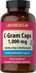 C-Gram 1000 mg mit Hagebutten und Bioflavonoiden 240 Kapseln mit schneller Freisetzung