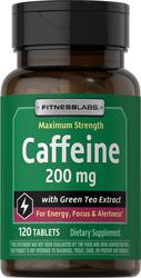 Caffeine 200 mg with Green Tea Extract, 120 Tabs