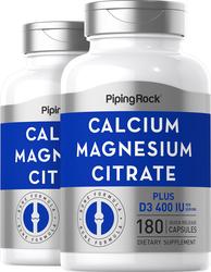 Кальций и магний цитрат плюс витамин D  (Cal 300mg/Mag 150mg/D3 400IU) (per serving) 180 Быстрорастворимые капсулы