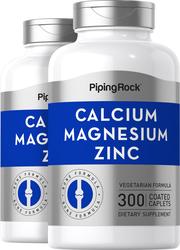 Calcium magnésium zinc  (Cal 1000mg/Mag 400mg/Zn 15mg) (per serving) 300 Petits comprimés enrobés