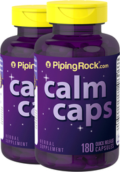 Calm Caps, 2 Bottles x 180 Capsules
