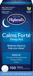 Calms Forte Homeopathic Sleep Aid 100 Tablets