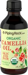 Óleo de camélia 100% puro pressão a frio (Orgânico) 2 fl oz (59 mL) Frasco