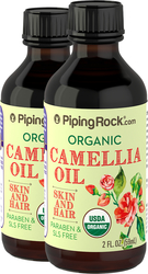 Kamelie, 100% reines Öl ‒ kalt gepresst (Bio) 2 fl oz (59 mL) Flaschen