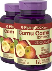 Camu Camu Extract 2000 mg 2 Bottles x 120 Capsules