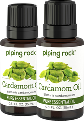 Cardamom Pure Essential Oil (GC/MS Tested), 1/2 oz (15 mL) x 2 Dropper Bottles