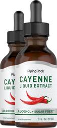 Extrait liquide de Cayenne 2 fl oz (59 mL) Compte-gouttes en verre