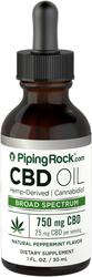 Aceite de cannabidiol (CBD) 1 fl oz (30 mL) Frasco con dosificador