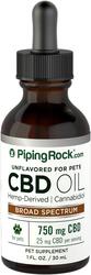 CBD-olie voor huisdieren 1 fl oz (30 mL) Druppelfles