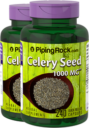 Celery Seed Supplement 1000 mg 2 Bottles x 240 Capsules