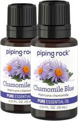Huile essentielle pure 100% de camomille bleue / allemande (GC/MS Testé) 1/2 fl oz (15 mL) Compte-gouttes en verre