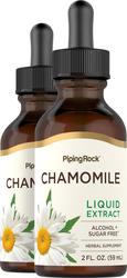 Chamomile Flowers Liquid Extract Alcohol Free 2 fl oz (59 mL) Compte-gouttes en verre