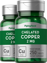 Chelated Copper 2mg  2 Bottles x 250 Tablets