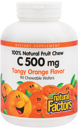 Chewable C 500 mg (Natural Tangy Orange), 90 Chewable Wafers