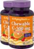 Vitamina C 500mg masticable (sabor natural a naranja) 90 Tabletas masticables