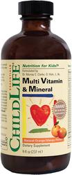 Minéraux liquides multi-vitaminés saveur orange mangue pour enfant 8 fl oz (237 mL) Bouteille