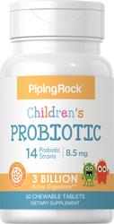Probiotika für Kinder mit 14 Stämmen und 3 Milliarden Organismen (natürliche Beere) 30 Kautabletten