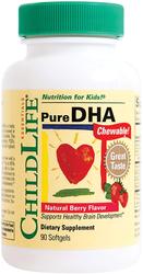 Tiszta dokozahexaénsav gyermekeknek, rágható természetes bogyó ízű 90 Puha gél