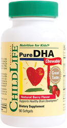 Children's Pure DHA Chewable Natural Berry Flavor 90 Softgels