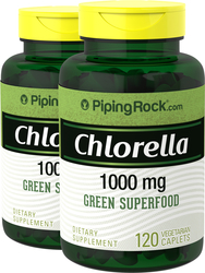 Chlorella Parede celular partida 120 Vegetariana Comprimidos oblongos