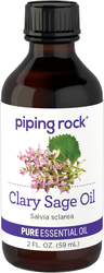 100% Pure Clary Sage Essential Oil 2 fl oz (59 ml) Dropper Bottle