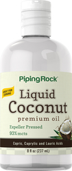 Óleo de coco líquido Premium 8 oz (237 ml) Frasco