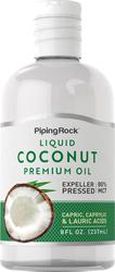 Aceite líquido de coco de primera calidad 8 oz (237 mL) Botella/Frasco