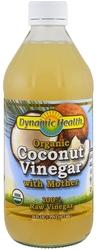 Vinaigre de noix de coco avec la mère (Biologique) 16 fl oz (473 mL) Bouteille