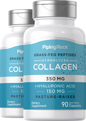 Collagen 350 mg + Hyaluronic Acid 150 mg, 90 Caps x 2 Bottles