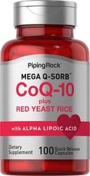 CoQ10 avec levure de Riz Rouge 100 Gélules à libération rapide