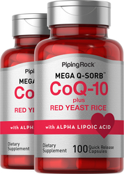 CoQ10 with Red Yeast Rice 2 Bottles x 100 Capsules