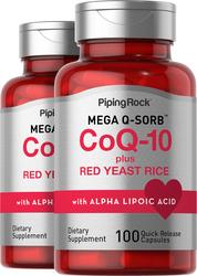 CoQ10 met rode gistrijst 100 Snel afgevende capsules