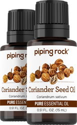 100% Pure Coriander Seed Essential Oil 2 Dropper Bottles x 1/2 oz (15 ml)