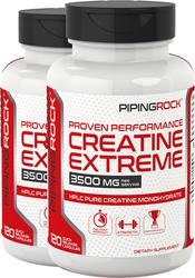 Creatine Monohydrate 3500 mg (per serving), 120 Capsules x 2 Bottles