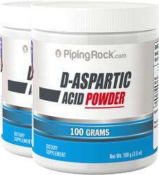 D-Aspartic Acid Powder 2 Jars x 100 Grams (3.5 oz) DAA