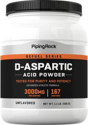 D-アスパラギン酸パウダー 500 g (17.64 oz) ボトル