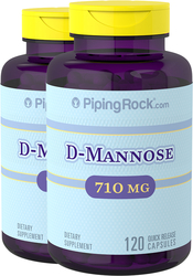 D-Mannose, 710 mg, 120 Capsules, 2 Bottles
