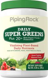 Super Greens diário em pó (Orgânico) 9.88 oz (280 g) Frasco