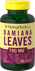 Damiana Leaves 750mg 180 Capsules
