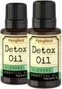 Detox Essential Oil 2 Dropper Bottles x 1/2 oz (15 ml)