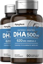 DHA à enrobage gastro-résistant 90 Capsules molles à libération rapide