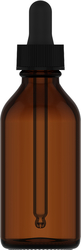 Tropfflasche, 59 ml, Glas 2 fl oz (59 mL) Glass Amber, Tropfflasche