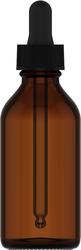 Compte-gouttes en verre 60ml 2 fl oz (59 mL) Glass Amber, Compte-gouttes en verre