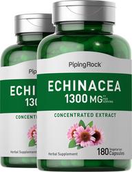 Echinacea 1300 mg (per serving), 180 Capsules x 2 Bottles